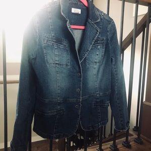 Loft denim blazer jacket size 12
